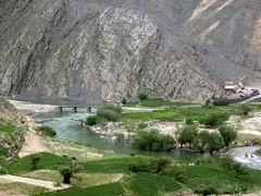 Bridges above the Panjshir river by <b>© Morrique</b> ( a Panoramio image )