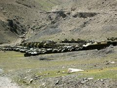 Abandoned Soviet military material in Panjshir Valley by <b>© Morrique</b> ( a Panoramio image )