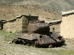 T-34!! in Panjshir Valley by <b>© Morrique</b> ( a Panoramio image )