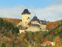 Castles in the Czech Republic. Karlstejn Gothic Castle founded 1 by <b>Roman Zazvorka</b> ( a Panoramio image )