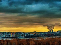 Вид на Мелькомбинат и ТЭЦ-5 by <b>Алексей Зырянов</b> ( a Panoramio image )