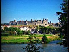 Panoramica de la ciudad medieval amurallada de CARCASSONNE.....  by <b>© FranciscoGC</b> ( a Panoramio image )