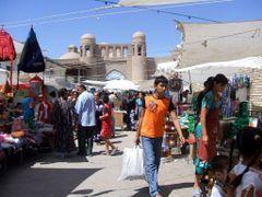 Khiva-Palvan Darvaza (eastern gate) and the Dekhon Bazaar-August by <b>Daniela Brocca</b> ( a Panoramio image )