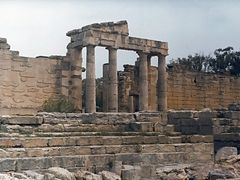 Cyrene: The Forum - Southern Propylon (April 1981) by <b>Maciejk</b> ( a Panoramio image )
