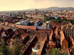Graz panorama . . . . Graz Schlossberg by <b>©  Imre Lakat</b> ( a Panoramio image )