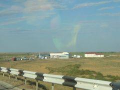 kasachische Grenzstation von der Grenzbrcke aus by <b>EbSp</b> ( a Panoramio image )