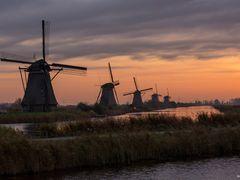 Windmills Kinderdijk at Sunrise by <b>© BraCom (Bram)</b> ( a Panoramio image )