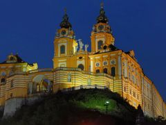 Night view of the Benedictine monastery Melk by <b>Karel H.</b> ( a Panoramio image )