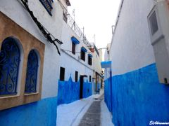 Narrow street in the Kasbah of Oudaya by <b>elakramine</b> ( a Panoramio image )