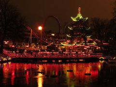 """Tivoli by Night III"" - Copenhagen, Denmark by <b>Jan Sognnes</b> ( a Panoramio image )"