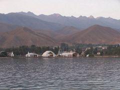 cholpon-ata Вид с полуострова by <b>Danil Gazizov</b> ( a Panoramio image )