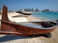 Traditional boats at Katara beach by <b>S?ren Terp</b> ( a Panoramio image )