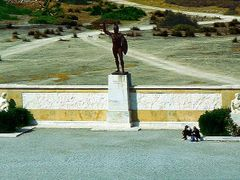 1975.09. - Thermopylai, king of Sparta Leonidas Monument - Therm by <b>Farsang Peter</b> ( a Panoramio image )
