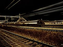 Gnesta train station - drive fast train X2000 (impression) by <b>BernardJ47</b> ( a Panoramio image )