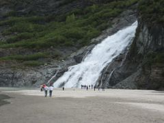 Waterfall at Mendenhall Glacier, Juneau by <b>yvr101</b> ( a Panoramio image )