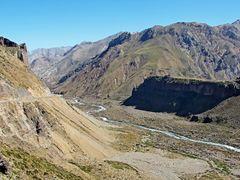 """Paisaje de la """"Cordillera de los Andes"""" Y """"Rio Maule""""  Desde """"Ru by <b>Omar Gobbi</b> ( a Panoramio image )"""
