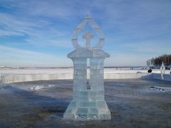 ледовые скульптуры,залив Якоби by <b>Jul@</b> ( a Panoramio image )