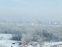 """Зимняя панорама Новосиба с """"Горской""""  by <b>grikuz</b> ( a Panoramio image )"""