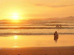 Amor infinito----Puesta de sol en la peninsula de  Nicoya desde  by <b>Melsen Felipe</b> ( a Panoramio image )