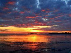 Sonnenuntergang am vereisten Bodden by <b>Garzer</b> ( a Panoramio image )