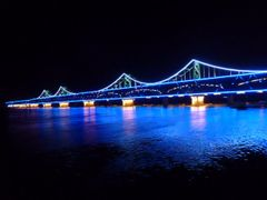 Dandong: Bridge to Sinuiju in North Korea by <b>Jurgen Weighardt</b> ( a Panoramio image )