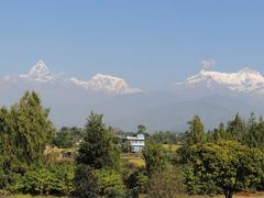 Annapurna range from Fulbari resort by <b>Dr.Azzouqa</b> ( a Panoramio image )