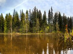 Reflections from last spring, Patalahti, Jamsa, PANORAMA, 17.5.2 by <b>jknaus</b> ( a Panoramio image )