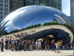 Polished Steel Bean in Chicago USA by <b>~?slavva?~</b> ( a Panoramio image )