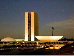 Palacio Nereu Ramos (Congresso Nacional) ao anoitecer,  Brasilia by <b>Rubens Craveiro</b> ( a Panoramio image )