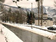 Andrijevica -  Town entrance - Park Knjazevac and church by <b>Guberinic Marko</b> ( a Panoramio image )