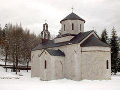 Andrijevica - Church in park Knjazevac back by <b>Guberinic Marko</b> ( a Panoramio image )