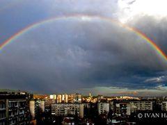 Пролетна дъга / Spring rainbow by <b>hadjiivan</b> ( a Panoramio image )
