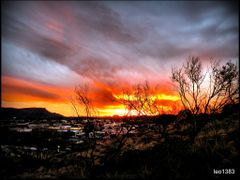 Red Centre sunset in  Alice Springs ..© by leo1383 by <b>leo1383</b> ( a Panoramio image )