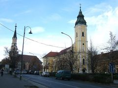 Lucenec_katolicky a kalvinsky kostol by <b>Miroslav Blaho</b> ( a Panoramio image )