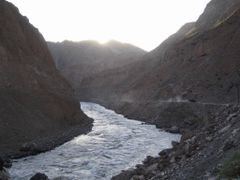 Panj river on border between Tajikistan and Afghanistan by <b>Sergey Ilyukhin</b> ( a Panoramio image )