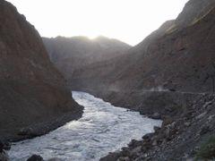 Panj river on border between Tajikistan and Afghanistan by <b>Sergey Ilyukhin</b> ( a Panoramio image )