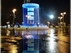 An evening after heavy rain on main square - Skopje / USKUP by <b>Ahmet Bekir</b> ( a Panoramio image )