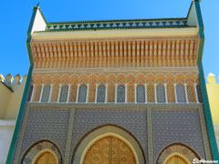 Entrance of Royal Palace, El Mellah - Fes by <b>elakramine</b> ( a Panoramio image )