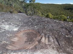 Aboriginal grooves in The Blue Labyrinth by <b>Tremaine Dickenson</b> ( a Panoramio image )
