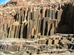 """Organ Pipes"" - near Twyfelfontein - Namibia by <b>H.J. van Zyl</b> ( a Panoramio image )"