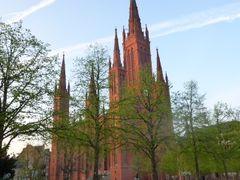 Spring in Wiesbaden 2013: Marktkirche / Market Church by <b>Jurgen Weighardt</b> ( a Panoramio image )