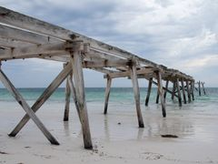 Eucla jetty 1 by <b>Geerten in Oz</b> ( a Panoramio image )