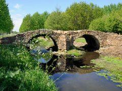 Pont gallo romain de la reine blanche a Curcay sur Dive  by <b>jl capdeville</b> ( a Panoramio image )