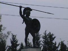 Termopulai szoros, Leonidasz szobor by <b>Dr. Pinczes Sandor</b> ( a Panoramio image )