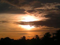 silhouette effect of SunSet by <b>Faysal Bin Darul</b> ( a Panoramio image )