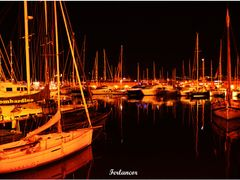 Marina  Nocturna en  Palma de Mallorca (f).  Dedicada a   **Anto by <b>Ferlancor Pano Yes</b> ( a Panoramio image )