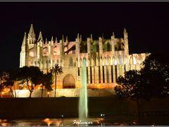 Catedral  de  Palma  Vista  nocturna (f) .Dedicada   a  **Chayde by <b>Ferlancor Pano Yes</b> ( a Panoramio image )