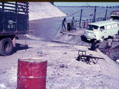 Nongkai - Vientiane 1970 , Mekong ferry by <b>Steffen Rohner</b> ( a Panoramio image )