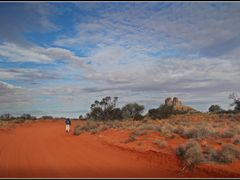 Red footprints by <b>TropicFox</b> ( a Panoramio image )
