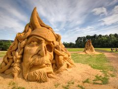 Sand sculptures by <b>S?ren Terp</b> ( a Panoramio image )